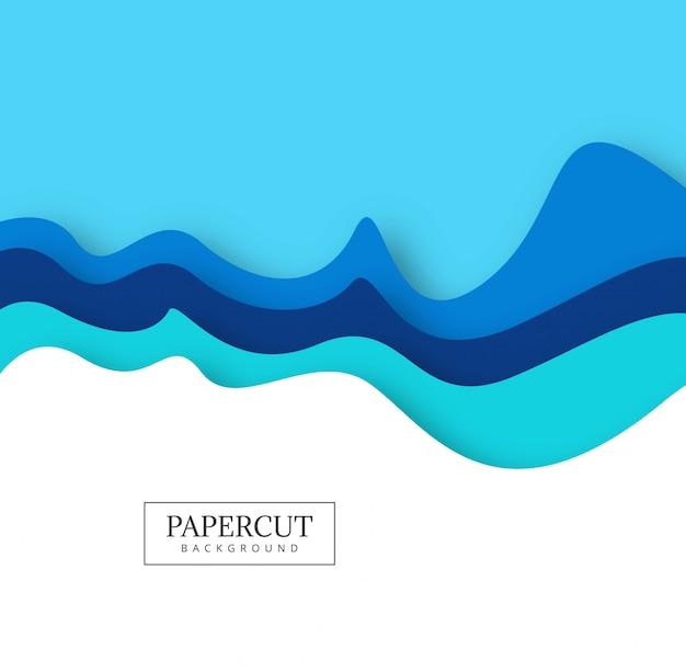 Abstracte kleurrijke papercut creatieve golf ontwerp vector Gratis Vector