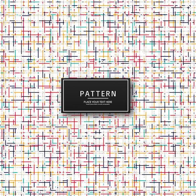 Abstracte kleurrijke patroonillustratie als achtergrond Gratis Vector
