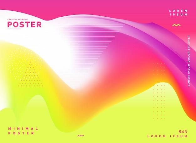 Abstracte kleurrijke poster ontwerp achtergrond Gratis Vector