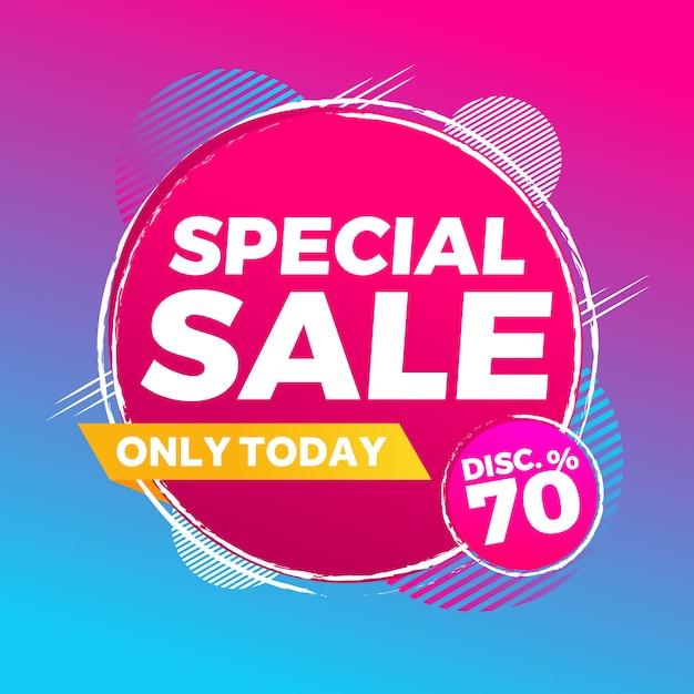 Abstracte kleurrijke speciale verkoop moderne achtergrond Premium Vector