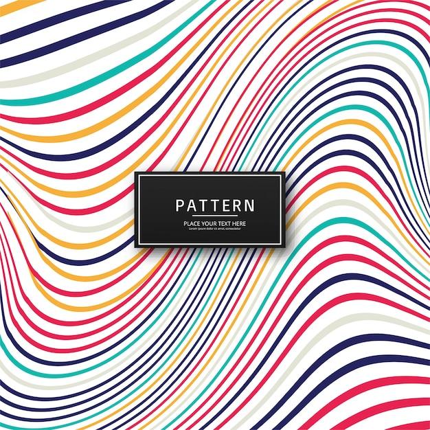 Abstracte kleurrijke stijlvolle lijnen achtergrond Gratis Vector