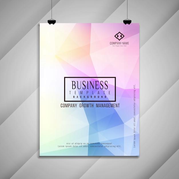 Abstracte kleurrijke stijlvolle zakelijke brochure sjabloonontwerp Gratis Vector