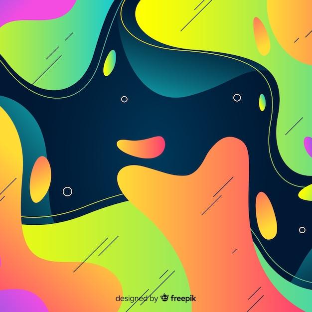 Abstracte kleurrijke stroomvormen achtergrond Gratis Vector