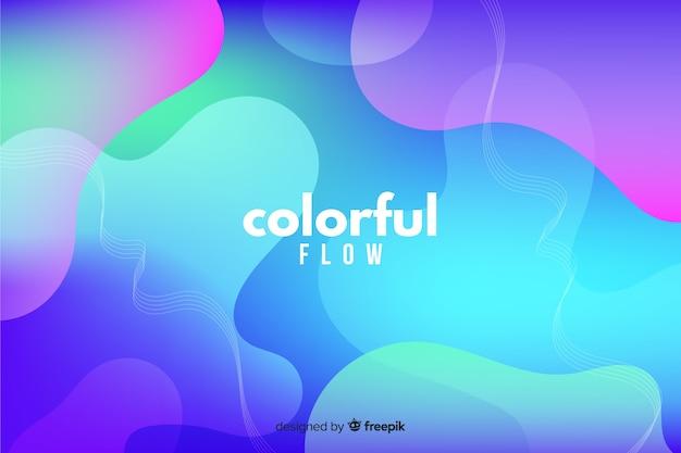 Abstracte kleurrijke vloeiende vormen achtergrond Gratis Vector