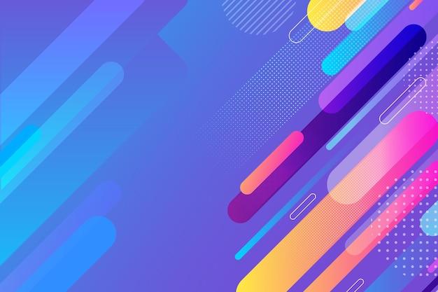 Abstracte kleurrijke vormenachtergrond Gratis Vector