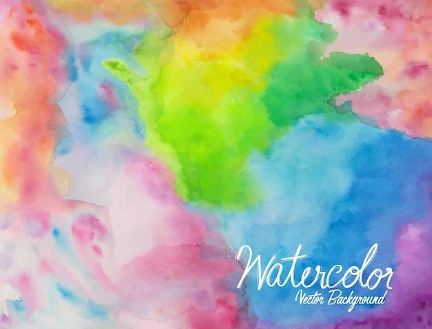 Abstracte kleurrijke waterverf 09 Premium Vector