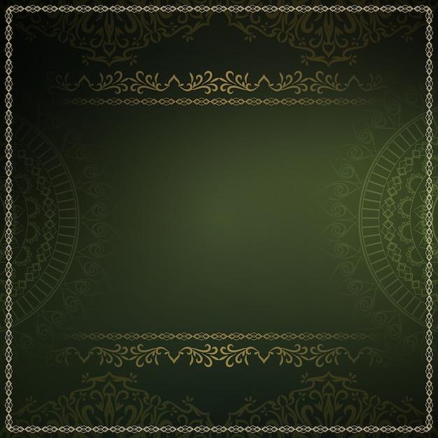 Abstracte koninklijke luxe donkergroene achtergrond Gratis Vector