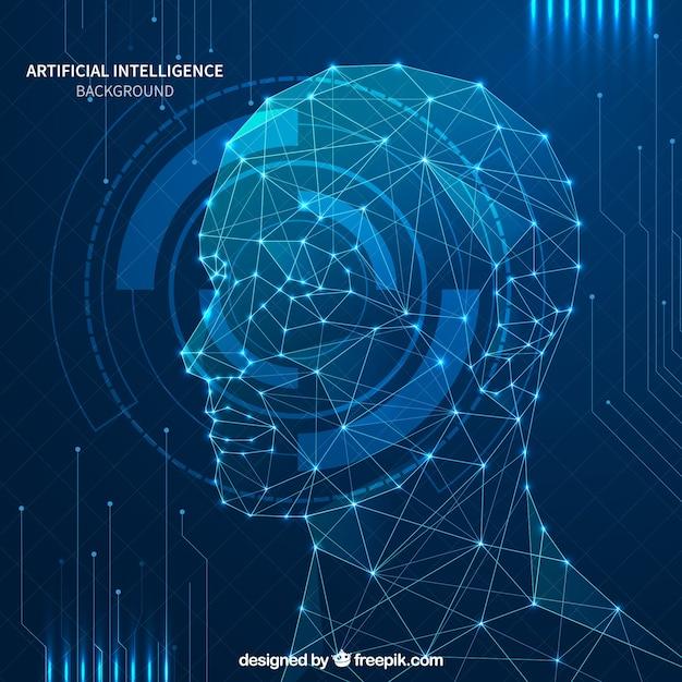 Abstracte kunstmatige intelligentie achtergrond Gratis Vector