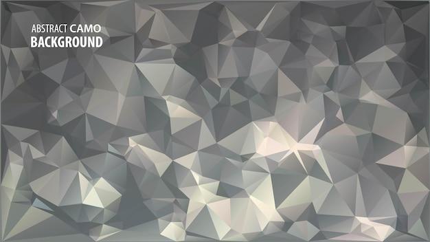 Abstracte laag poly achtergrond gemaakt van geometrische driehoeken vormen. Premium Vector