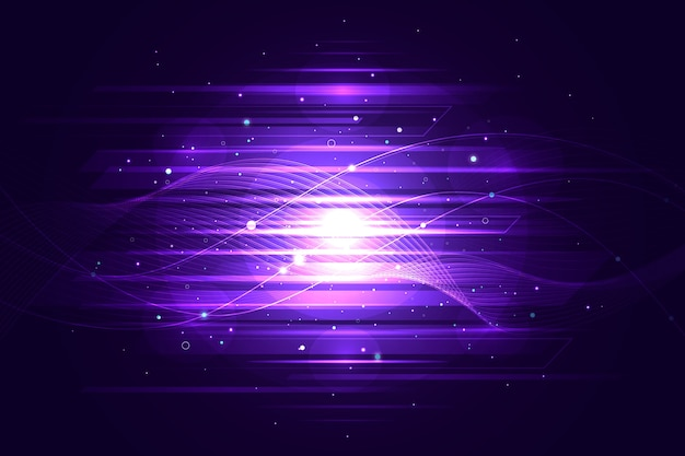 Abstracte lichte bewegingsachtergrond Gratis Vector
