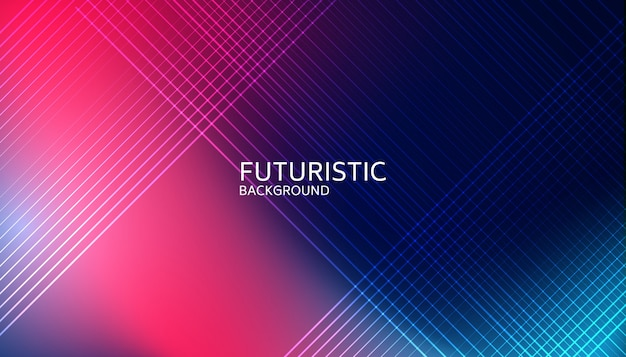 Abstracte lichte lijn futuristische achtergrond Premium Vector