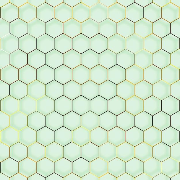 Abstracte lijn zeshoek geometrische textuur Gratis Vector
