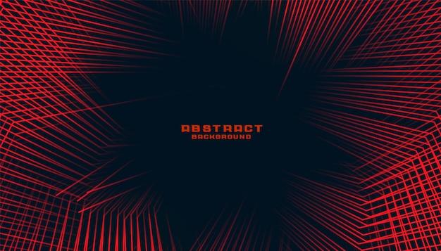 Abstracte lijnen achtergrond in rode en zwarte kleur duotoon thema Gratis Vector
