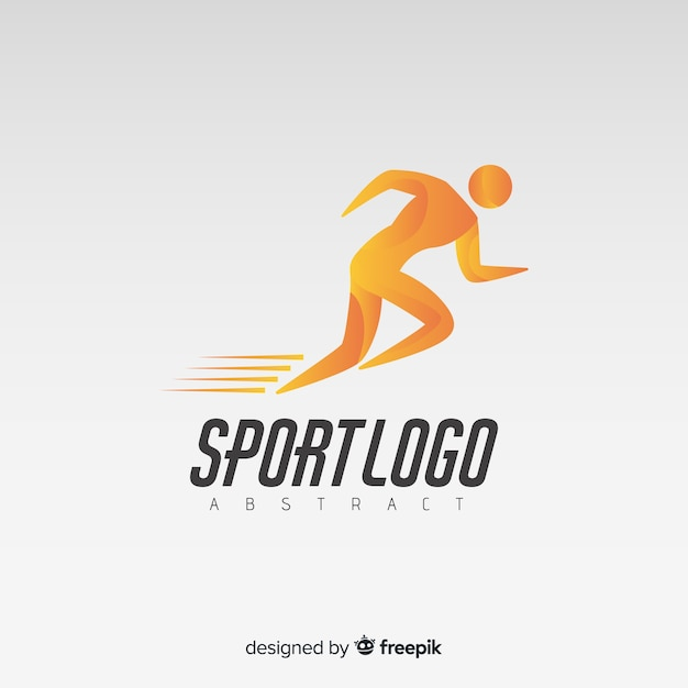 Abstracte lopende logo of logo sjabloon Gratis Vector