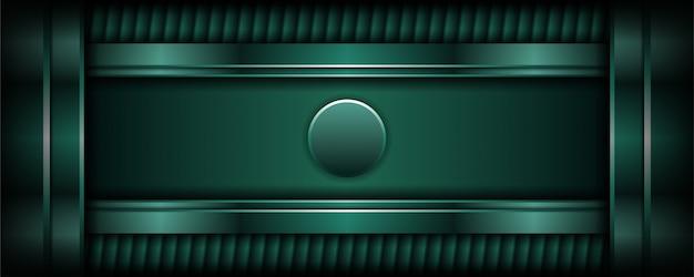 Abstracte luxe donkergroene achtergrond met overlappingslaag Premium Vector