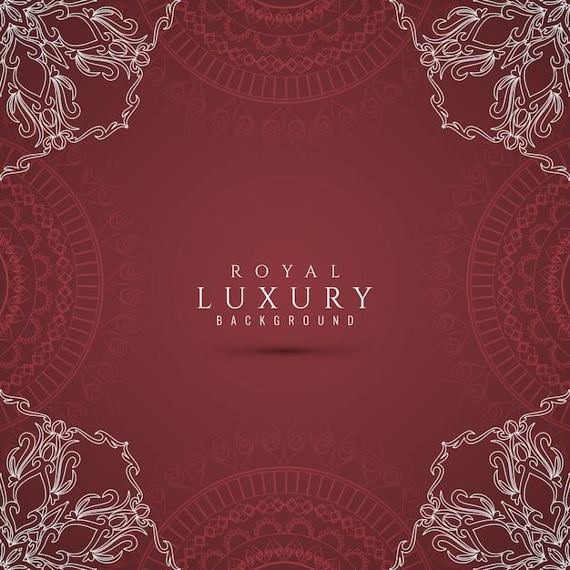 Abstracte luxe mooie decoratieve achtergrond Gratis Vector