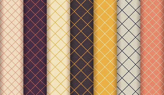 Abstracte luxe naadloze patroon ingesteld Premium Vector