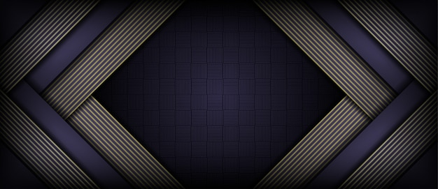 Abstracte luxe overlapping papier donkere achtergrond Premium Vector