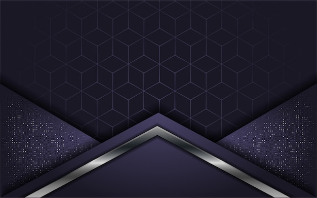 Abstracte luxe paars met overlappende laag Premium Vector
