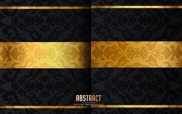 Abstracte luxe zwarte achtergrond Premium Vector