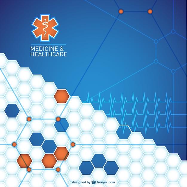 Abstracte medische achtergrond ontwerp Gratis Vector
