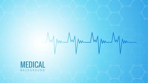 Abstracte medische en gezondheidszorg met levenslijn Gratis Vector