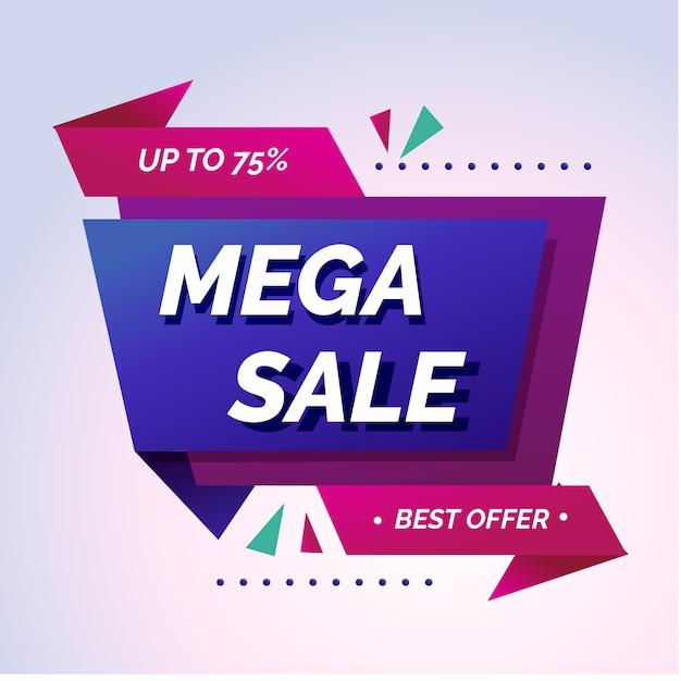 Abstracte mega verkoop promotie banner Gratis Vector