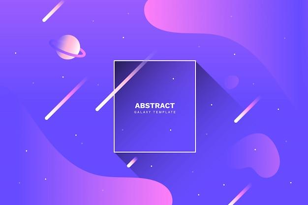 Abstracte melkwegachtergrond met vloeibare vormen Gratis Vector