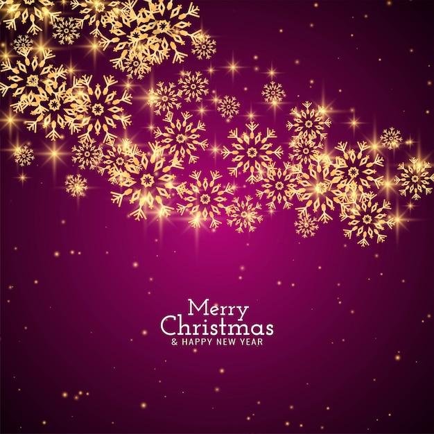 Abstracte merry christmas groet sneeuwvlokken achtergrond Gratis Vector