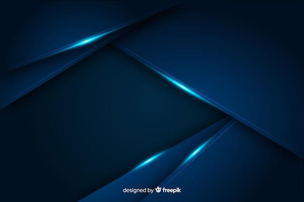 Abstracte metaal blauwe decoratieve achtergrond Gratis Vector