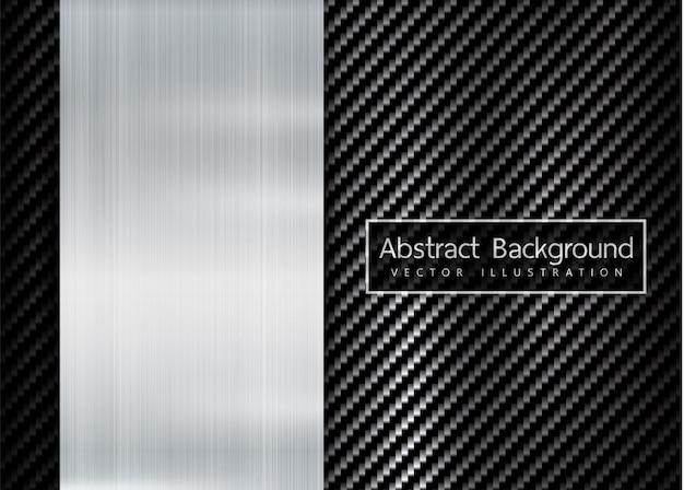 Abstracte metalen frame carbon kevlar textuur Premium Vector