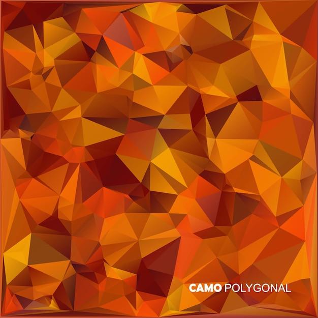 Abstracte militaire camouflage achtergrond gemaakt van geometrische driehoeken vormen camo Premium Vector