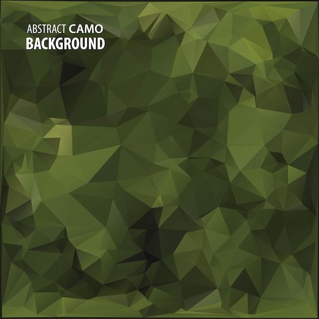 Abstracte militaire camouflage achtergrond gemaakt van geometrische driehoeken vormen. illustratie. Premium Vector