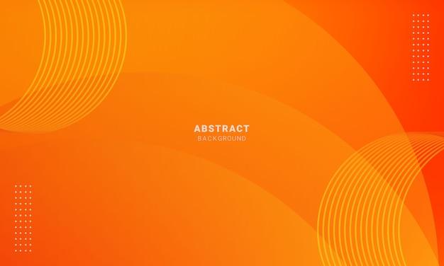 Abstracte minimale oranje achtergrond, eenvoudige achtergrond met halftoon Premium Vector