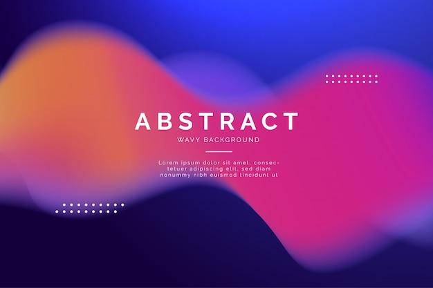 Abstracte moderne achtergrond met golven Gratis Vector