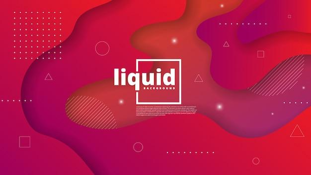 Abstracte moderne achtergrond met vloeistof en vloeibaar element Premium Vector