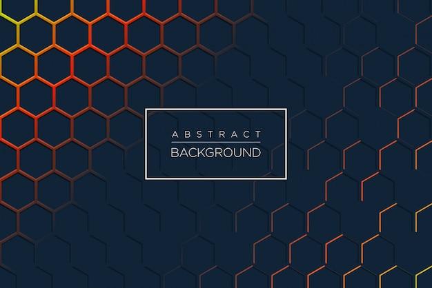 Abstracte moderne achtergrond met zeshoekige vorm Premium Vector