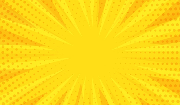 Abstracte moderne gele achtergrond Premium Vector