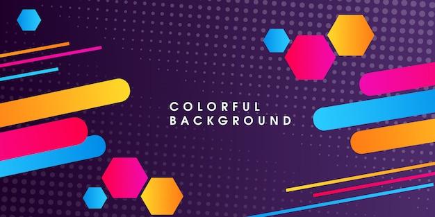 Abstracte moderne kleurrijke vectorachtergrond Premium Vector