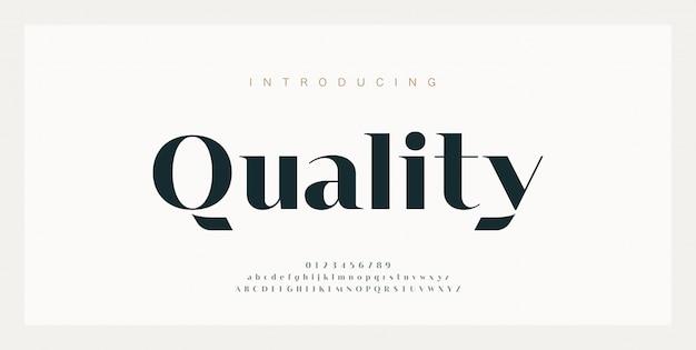 Abstracte moderne stedelijke alfabet lettertype Premium Vector