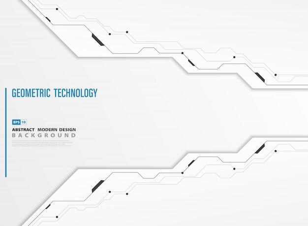 Abstracte moderne technologie witte sjabloon achtergrond Premium Vector