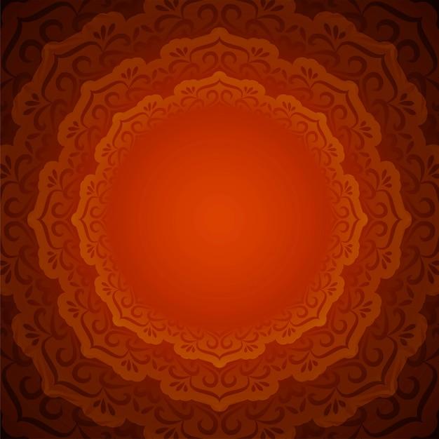 Abstracte mooie decoratieve mandalaachtergrond Gratis Vector