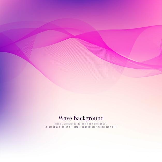 Abstracte mooie roze golfachtergrond Gratis Vector