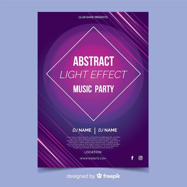 Abstracte muziek poster sjabloon Gratis Vector