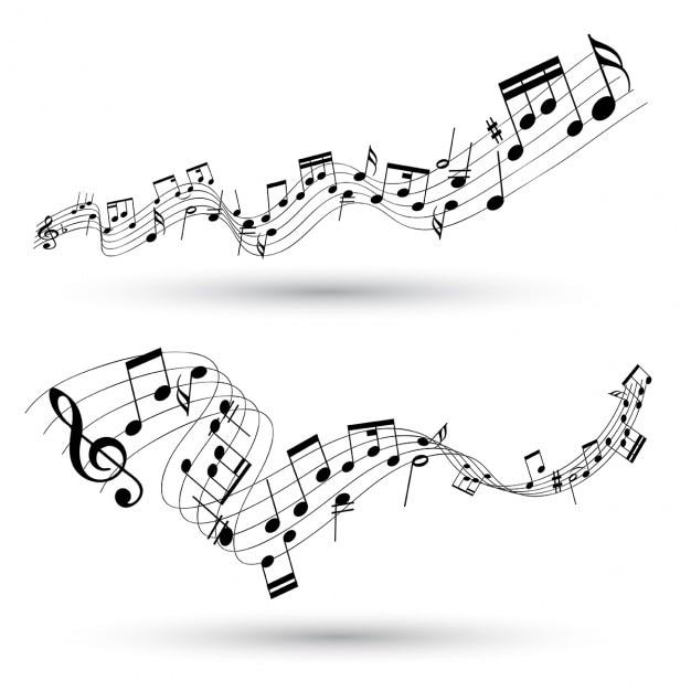 Abstracte muzikale achtergrond Gratis Vector