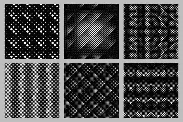 Abstracte naadloze van het achtergrond puntpatroon ontwerpreeks Premium Vector