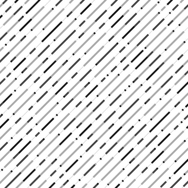 Abstracte naadloze zwarte grijze het patroonachtergrond van de streeplijn. Premium Vector