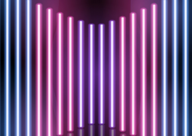 Abstracte neon bars achtergrond Gratis Vector