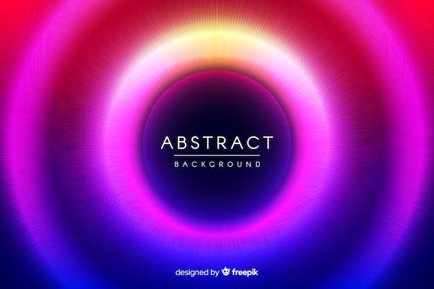 Abstracte neon cirkels achtergrond Gratis Vector