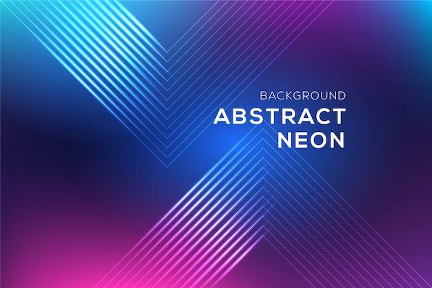 Abstracte neon lijnen achtergrond Gratis Vector